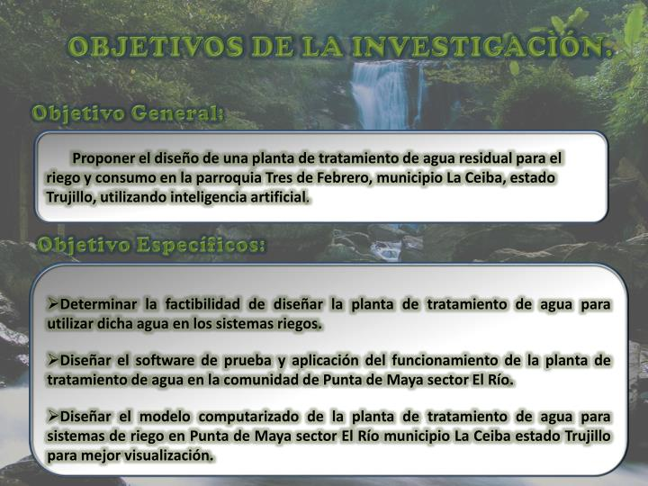 OBJETIVOS DE LA INVESTIGACÌÓN.