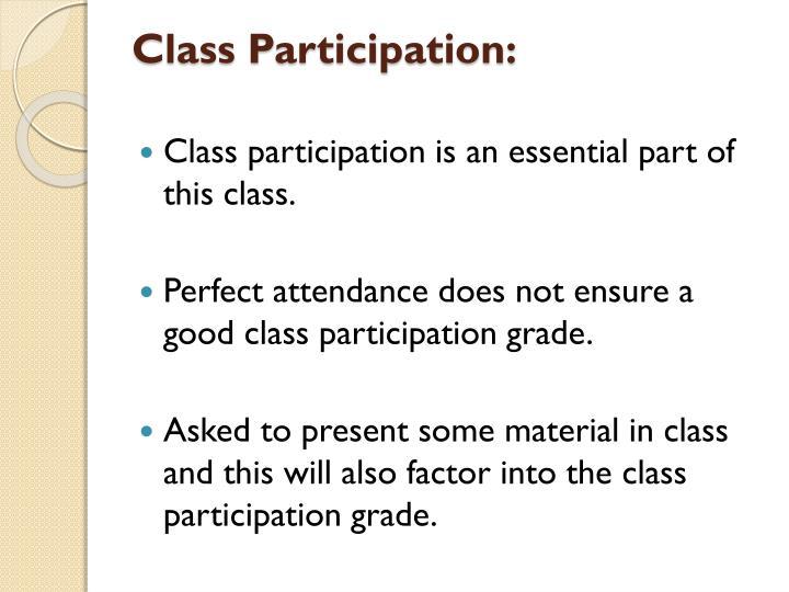 Class Participation: