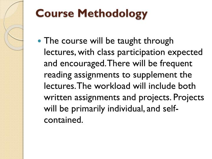 Course Methodology