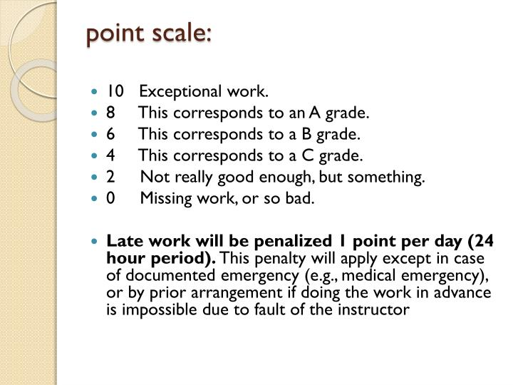 point scale:
