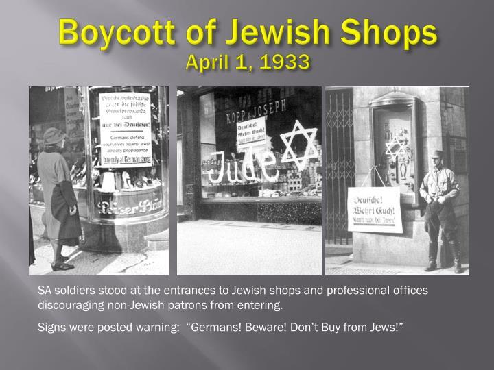 Boycott of Jewish Shops