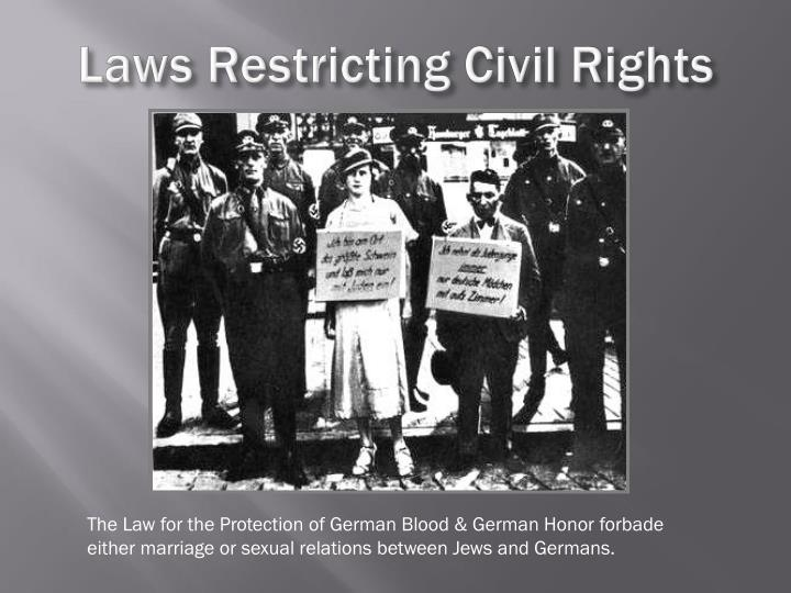 Laws Restricting Civil Rights