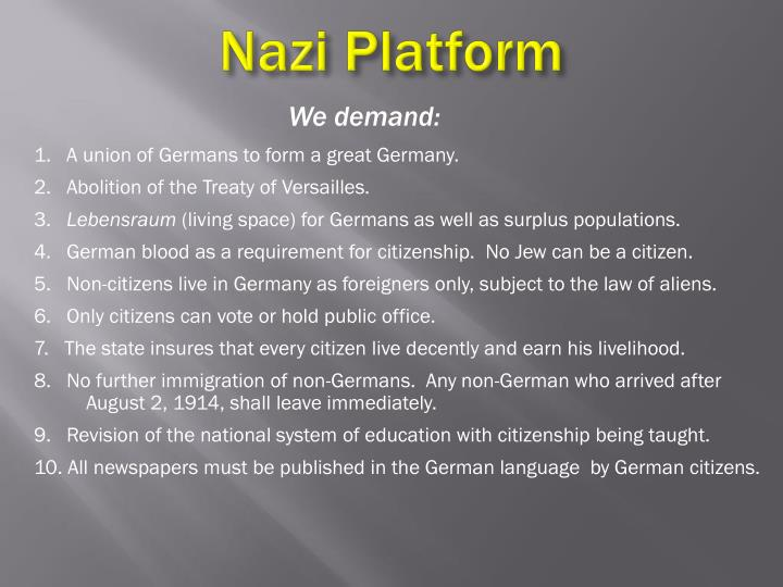 Nazi Platform