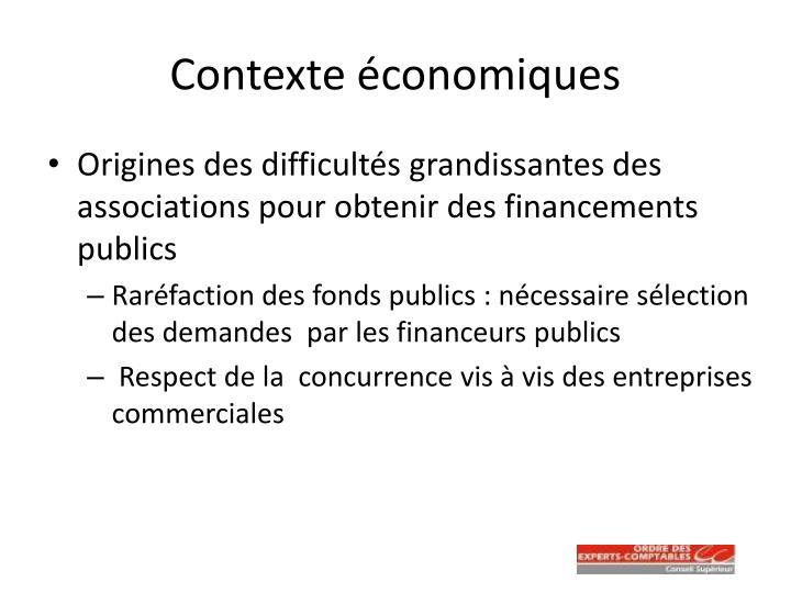 Contexte économiques
