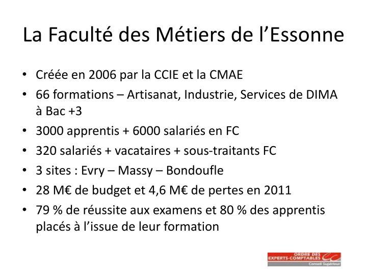 La Faculté des Métiers de l'Essonne