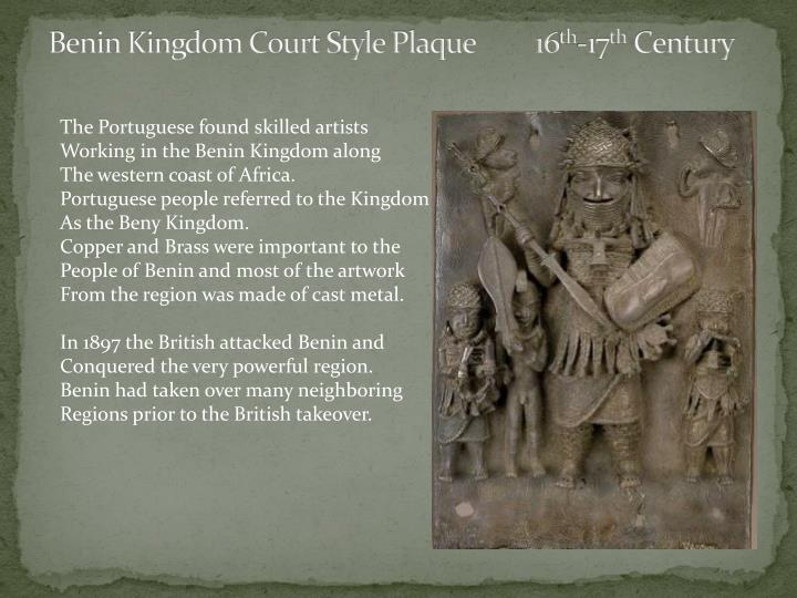 Benin Kingdom Court Style Plaque         16