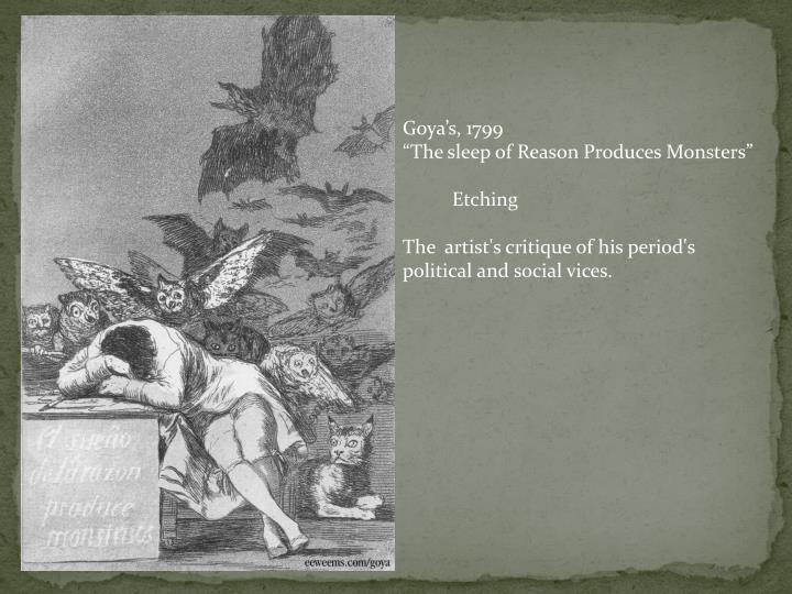 Goya's, 1799