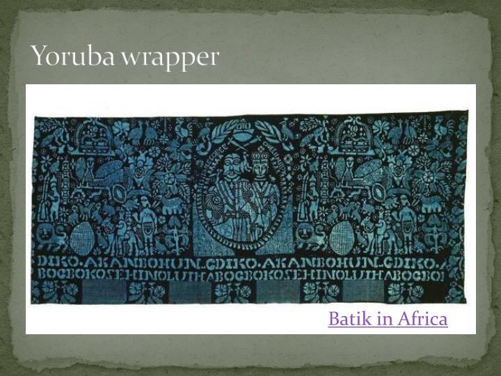 Yoruba wrapper