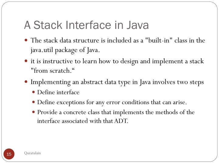 A Stack Interface in Java
