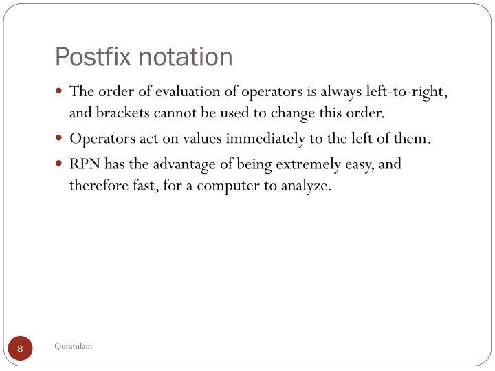 Postfix notation