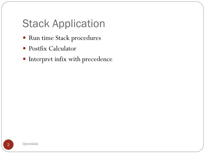 Stack application