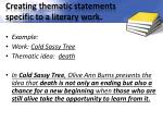 creating thematic statements specific to a literary work1