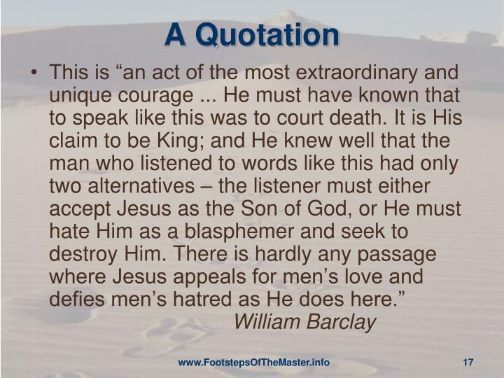A Quotation
