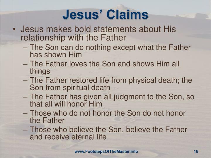 Jesus' Claims