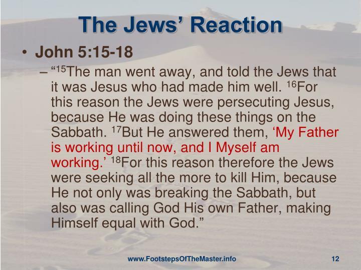 The Jews' Reaction