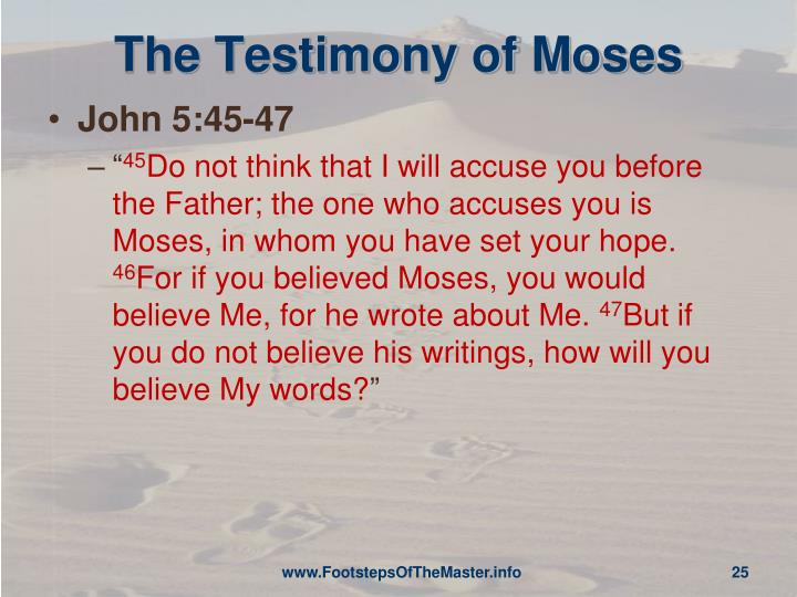 The Testimony of Moses