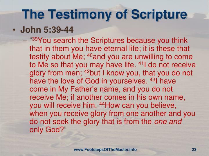 The Testimony of Scripture