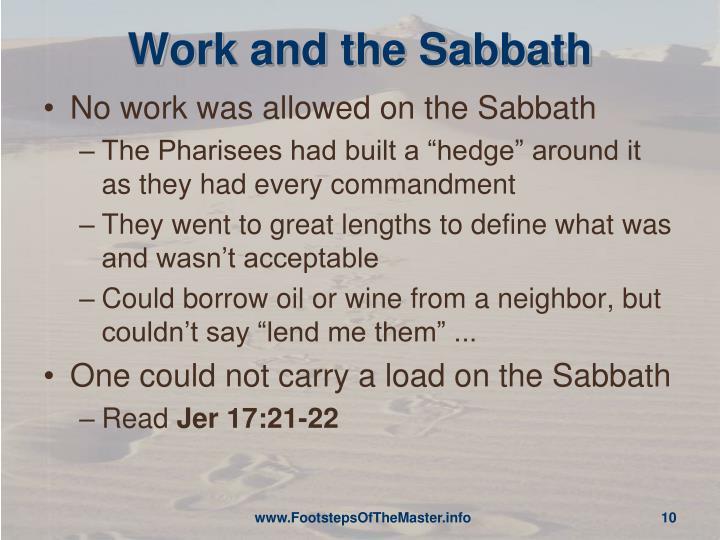Work and the Sabbath
