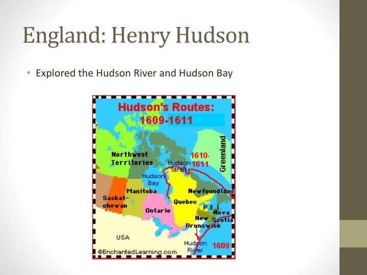 England: Henry Hudson