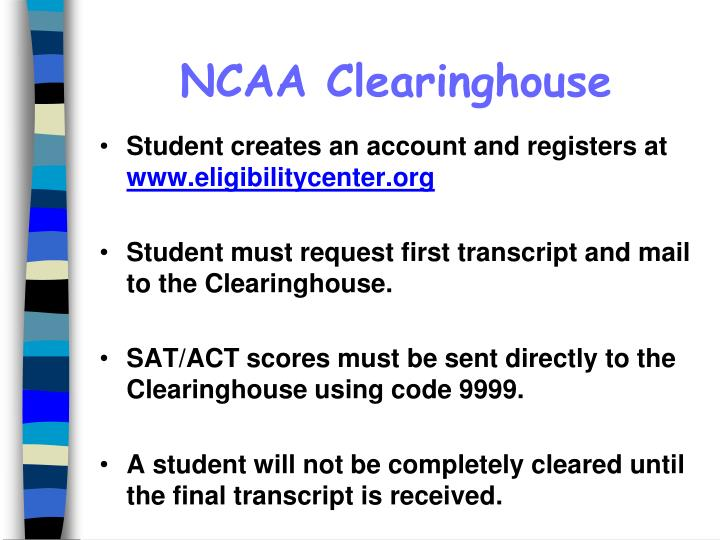 NCAA Clearinghouse