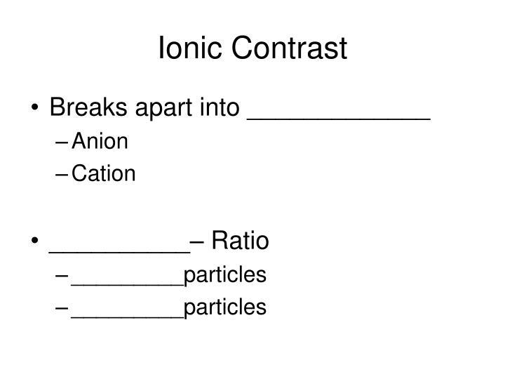 Ionic Contrast