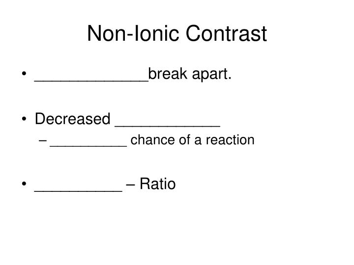 Non-Ionic Contrast