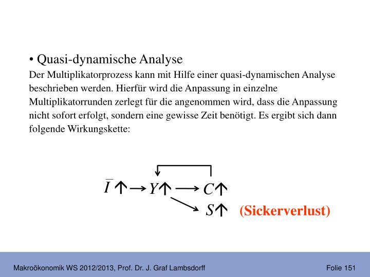Quasi-dynamische Analyse