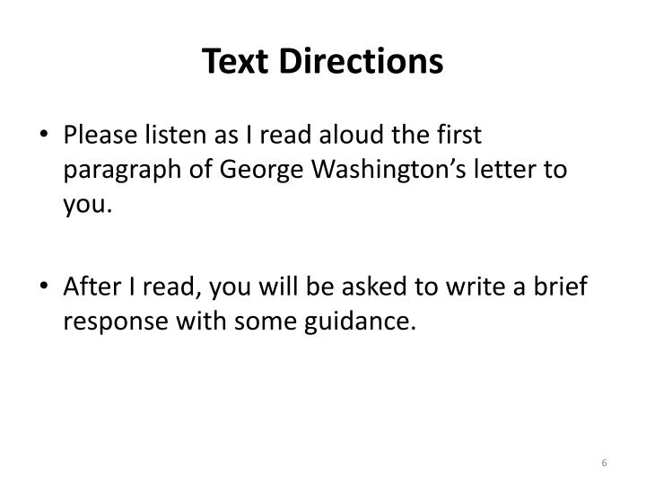 Text Directions