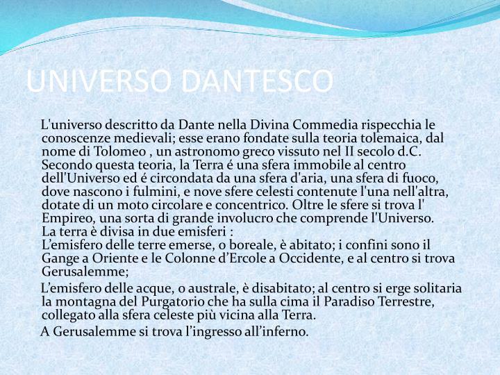 UNIVERSO DANTESCO