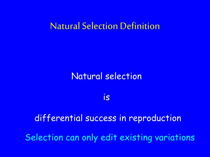 Natural Selection Definition