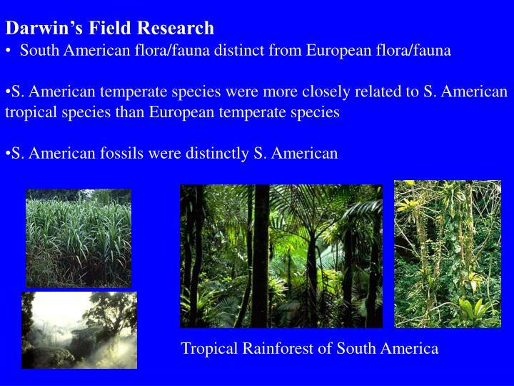 Darwin's Field Research