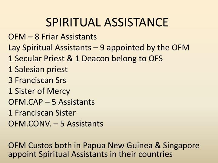 SPIRITUAL ASSISTANCE