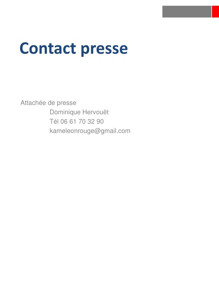 Contact presse