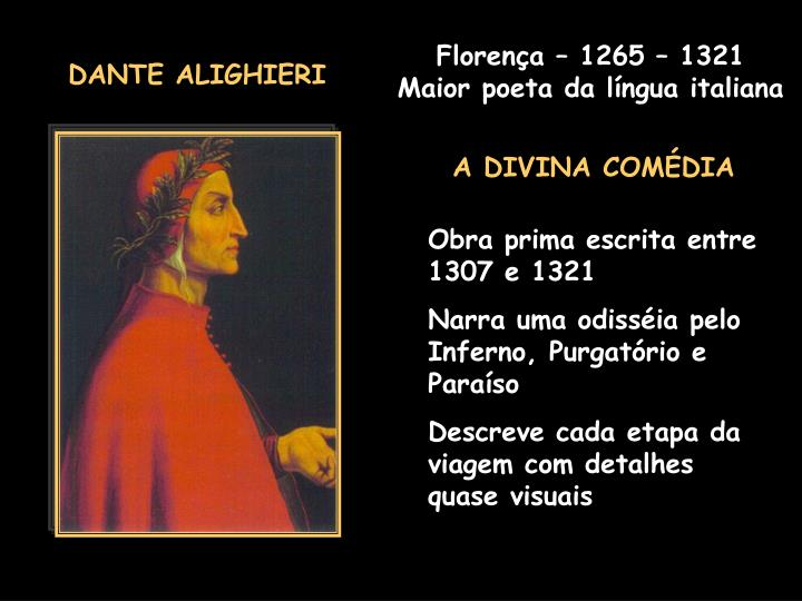 Florença – 1265 – 1321