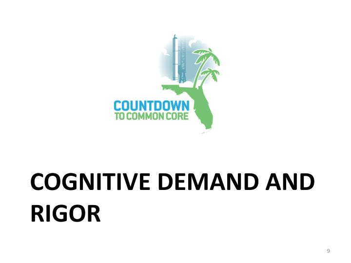 Cognitive Demand and Rigor