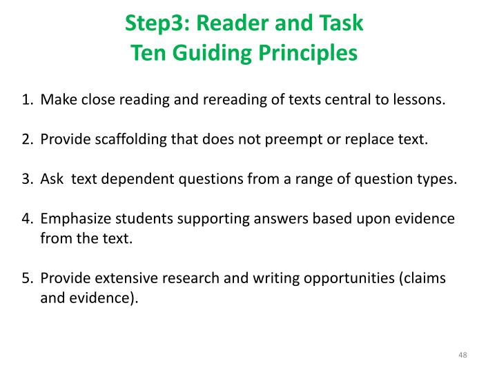 Step3: Reader and Task
