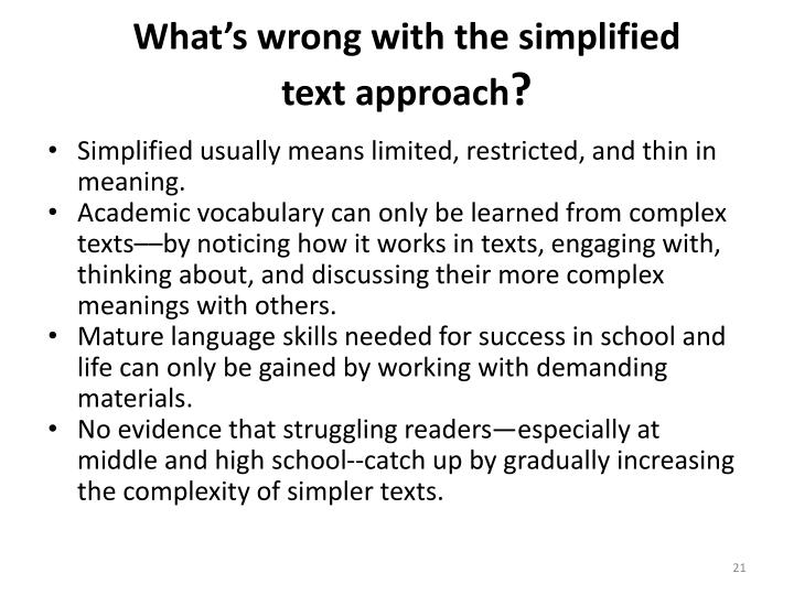 What's wrong with the simplified