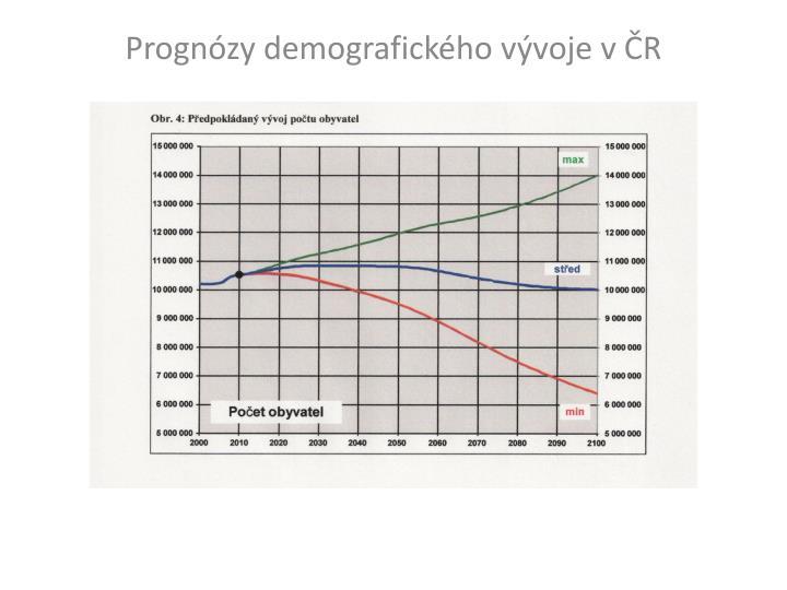 Prognózy demografického vývoje v ČR