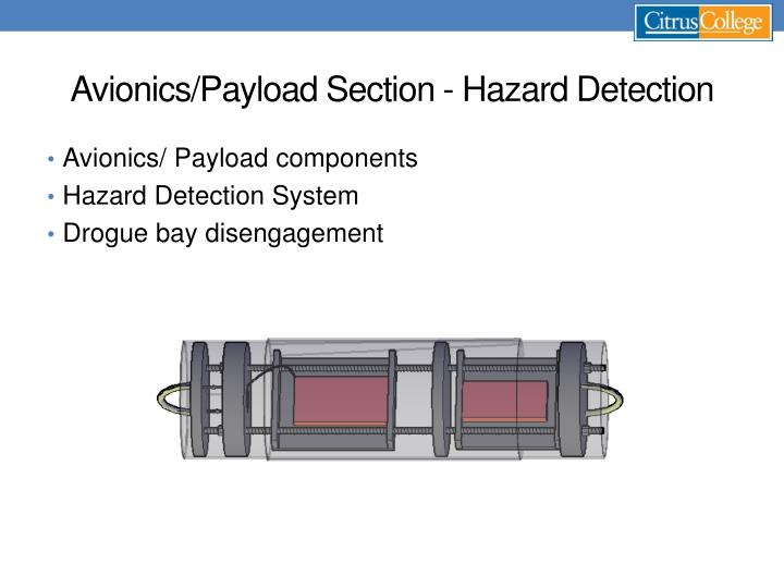 Avionics/Payload Section - Hazard Detection
