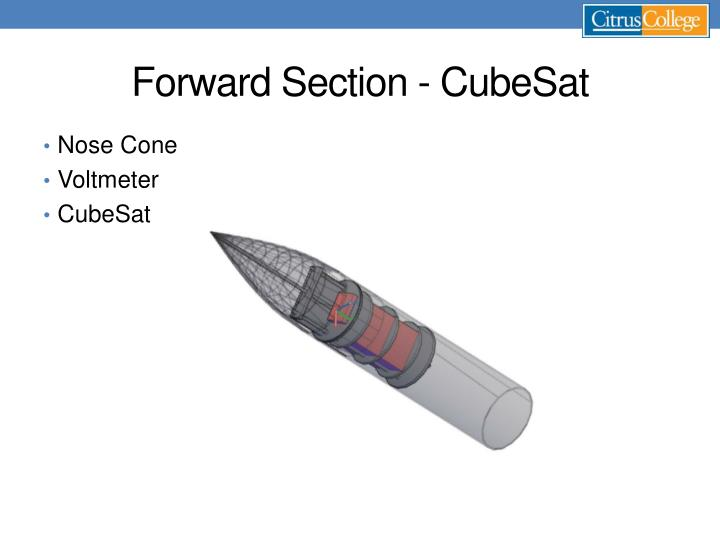 Forward Section - CubeSat