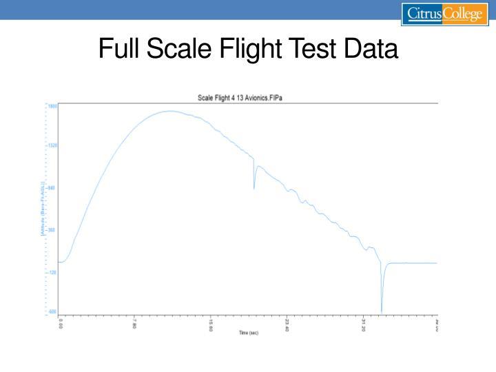 Full Scale Flight Test Data