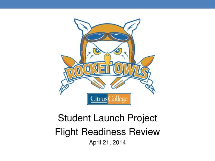 Student Launch Project