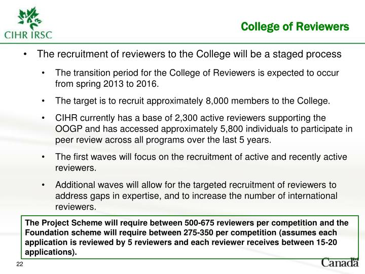 College of Reviewers