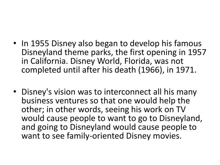 In 1955 Disney