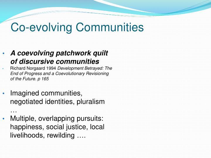 Co-evolving Communities