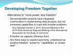 developing freedom together