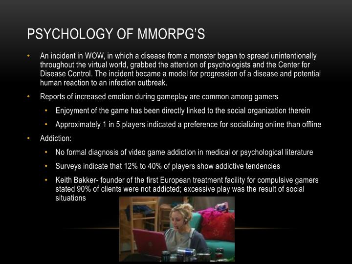 Psychology of mmorpg's