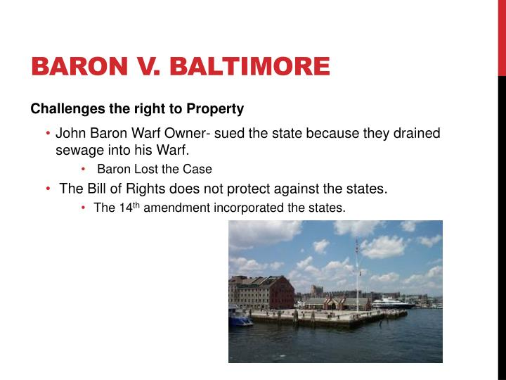 Baron v. Baltimore