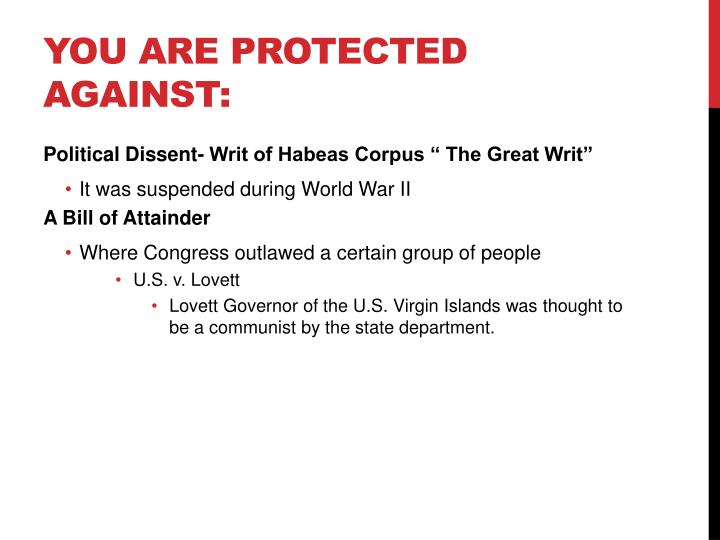 You are Protected Against: