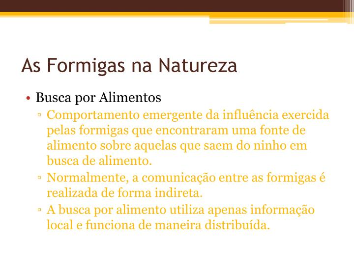 As Formigas na Natureza